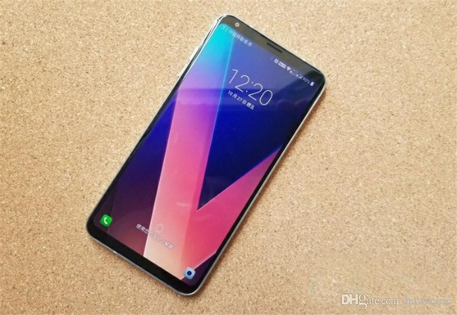 Reformiert Original LG V30 + V30 Plus-H930DS 6,0 Zoll Dual-SIM-Octa-Core 4 GB RAM 128 GB ROM 16MP13MP 4G LTE entriegelte intelligentes Telefon DHL