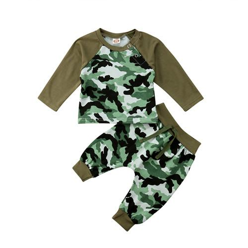 ba0574a79 2019 Baby Boys Cool Camo Long Sleeve Patchwork Top Casual Newborn Baby Boys  Girls Camo Tops T Shirt +Pants Outfits Set Clothes From Coolhi, $38.41 |  DHgate.