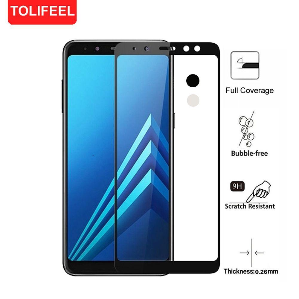 f083801fe Compre 9 H Cobertura Completa De Vidro Temperado Para Samsung Galaxy A8 2018  Borda Curva Cobertura Completa Película Protetora Para Galaxy A8 + Plus 2018  ...