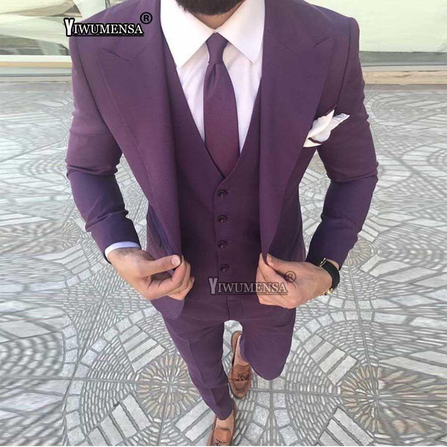Acheter Yiwumensa Or Rose Hommes Costumes Slim Fit Costume De Mariée Smoking  Fumer Homme Costumes De Mariage Formel Pour Hommes 2018 Blazer + Pantalon +  ... 04e9aa8fa00