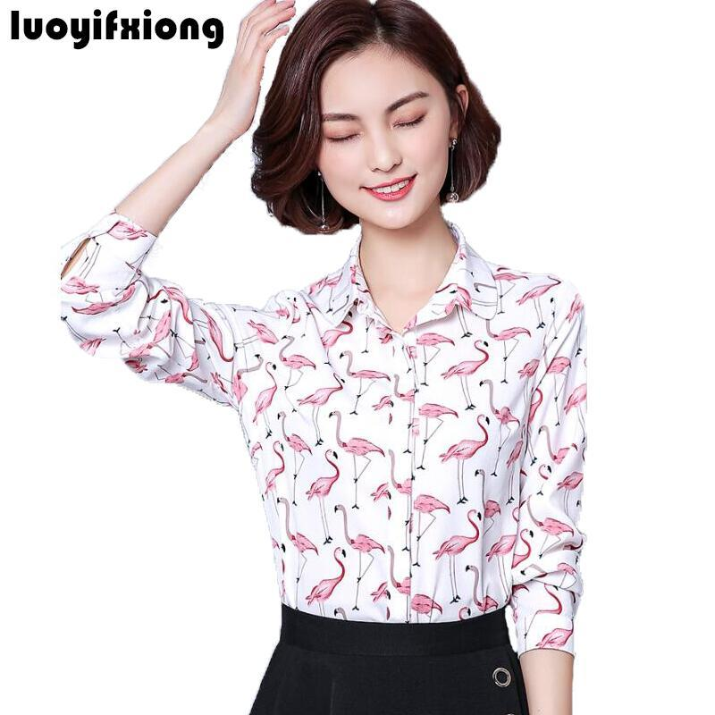cd6dc86ff5 2018 Luoyifxiong 2018 Womens Tops And Blouses Long Sleeve Blusas Fashion  Vintage Print Blouse Shirt Plus Size Office Blusa Feminina From Philipppe