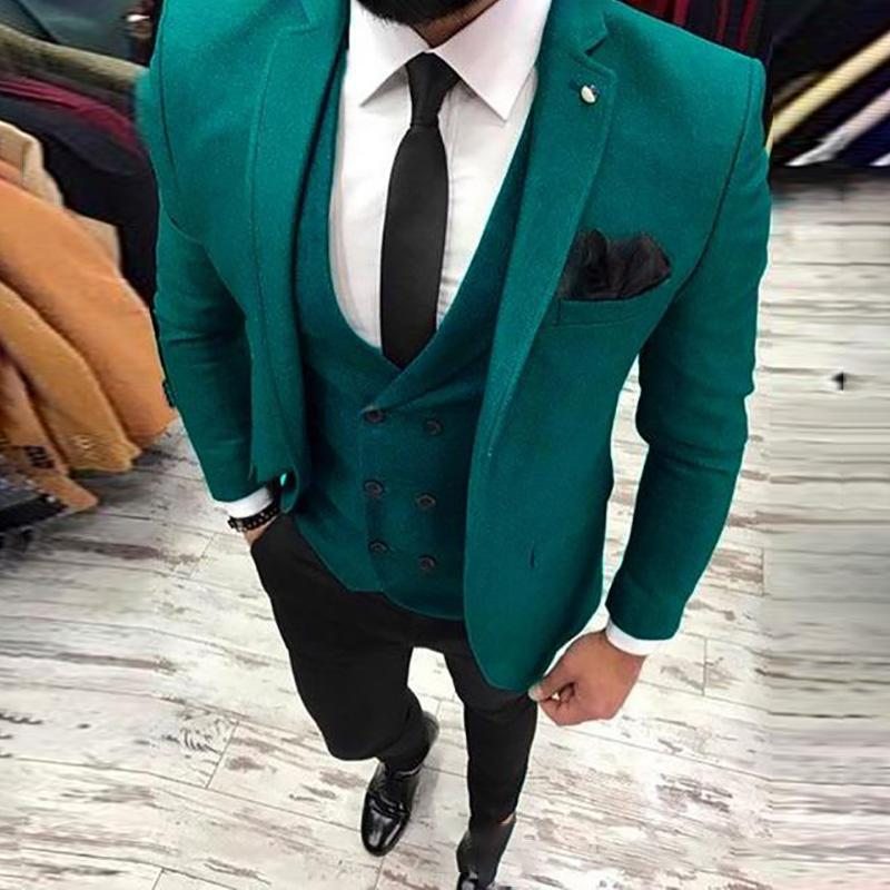b6842ebdeb52 2019 2018 Latest Coat Pant Designs Green Man Suit For Wedding Street Style  Classic Jacket Blazer Custom Slim Fit Male Man From Edwiin04