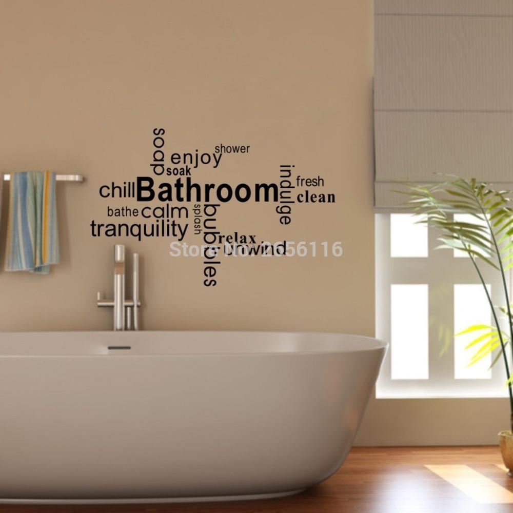 bathroom quotes bathe enjoy soak shower diy wall sticker bubbles special art vinyl letter waterproof mural decoration polka dot wall decals pretty wall - Bathroom Quotes