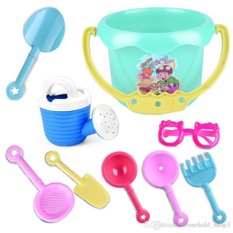 beach Bucket SandBeach Set Toys sand Shovel Sand Wheel Watering bottle Creativity Developing toys For kids
