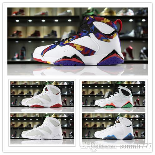 9a12ed89d60 7s Classic 7 men women basketball shoes pure money hare Bunny raptor french  blue Bordeaux Hot Lava Verde black red white blue sneakers