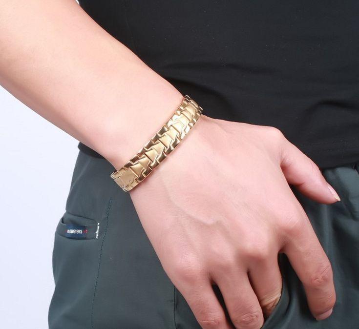 New Healing Magnetic Bracelet Men/Woman 316L Stainless Steel 3 Health Care ElementsMagnetic,FIR,Germanium Healthy Bracelet Hand Chain