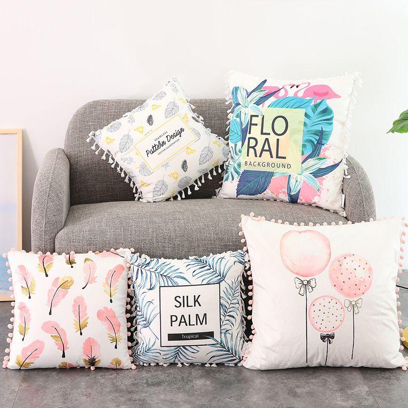 Ins Sofa Throw Pillows Tassel Decorative Sofa Pillows 40 Design New Decorative Tassel Pillows