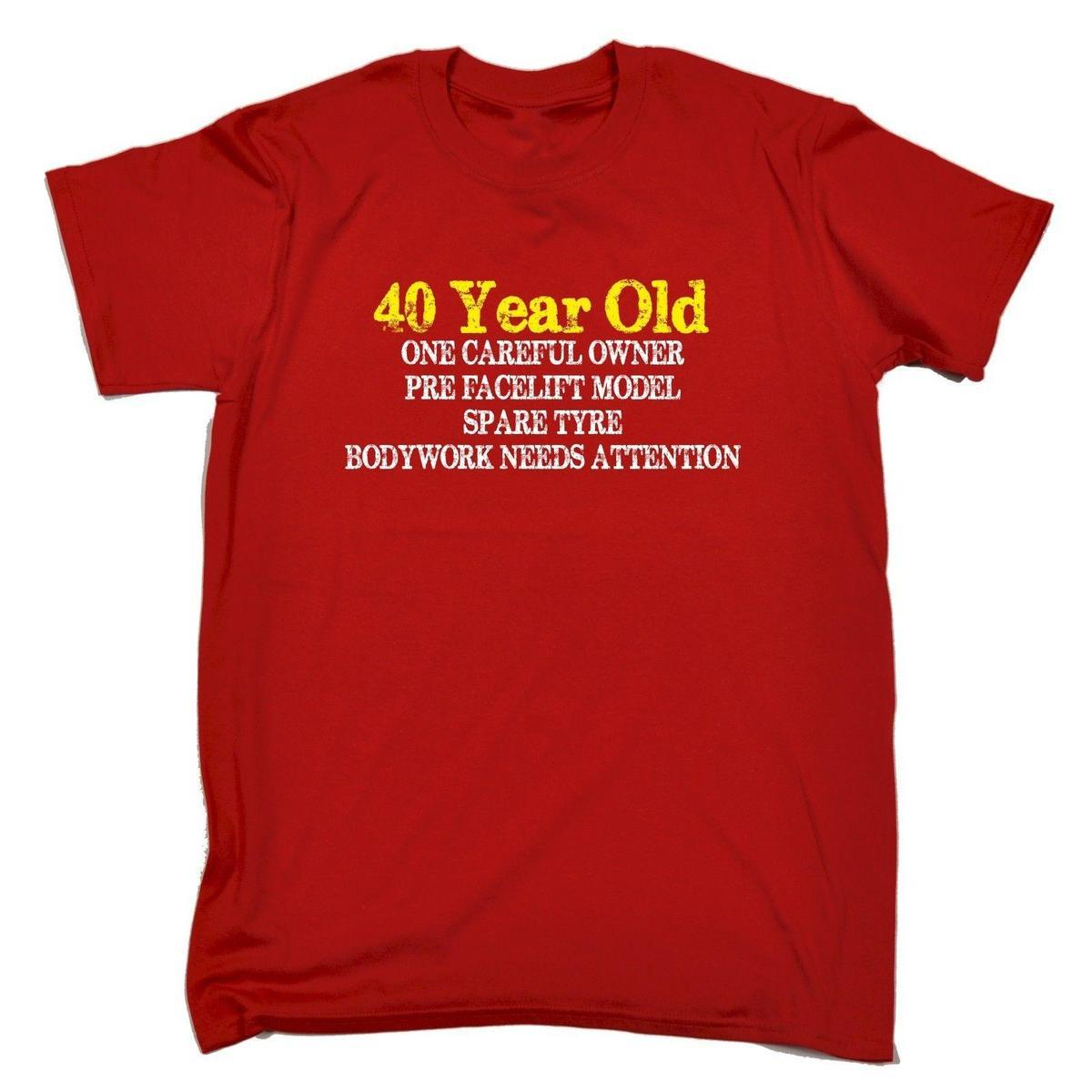 40 Year Old One Careful Owner T SHIRT Tee Birthday Gift Joke 7 Shirt Funny Rude Shirts From Amesion33 1208