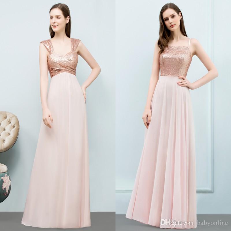Cheap Under $50 Rose Gold Bridesmaid Dresses 2018 Real