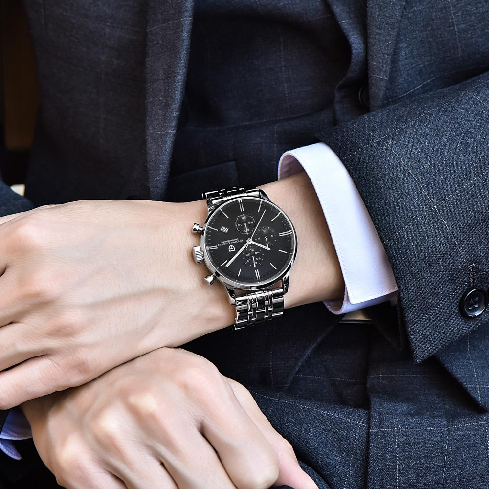 0e866a4b384 Compre Mens Relojes De Primeras Marcas De Lujo A Prueba Agua 30 M Cuero  Genuino Deporte Militar Cuarzo Relojes Hombres Reloj Relo De Lovesongs