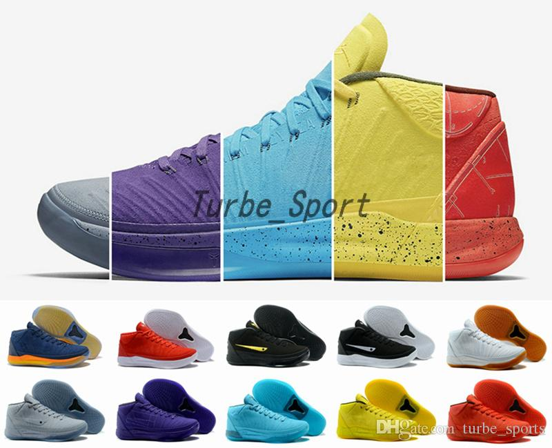 new product 240d3 7b532 2018 Kobe 5 AD Mid Fearless Black Gold Basketball Shoes For Men KB 5s  Detached Red Blue Wolf Grey Sports Sneakers Size 7 12 Online Shoe Shopping  Youth ...