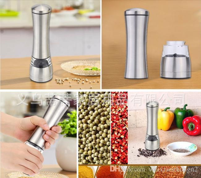 Pepper Grinder Hand Manual Rotatory Stainless Steel Salt and Pepper Mill Grinder Seasoning Kitchen Tools Grinding for Cooking Restaurants