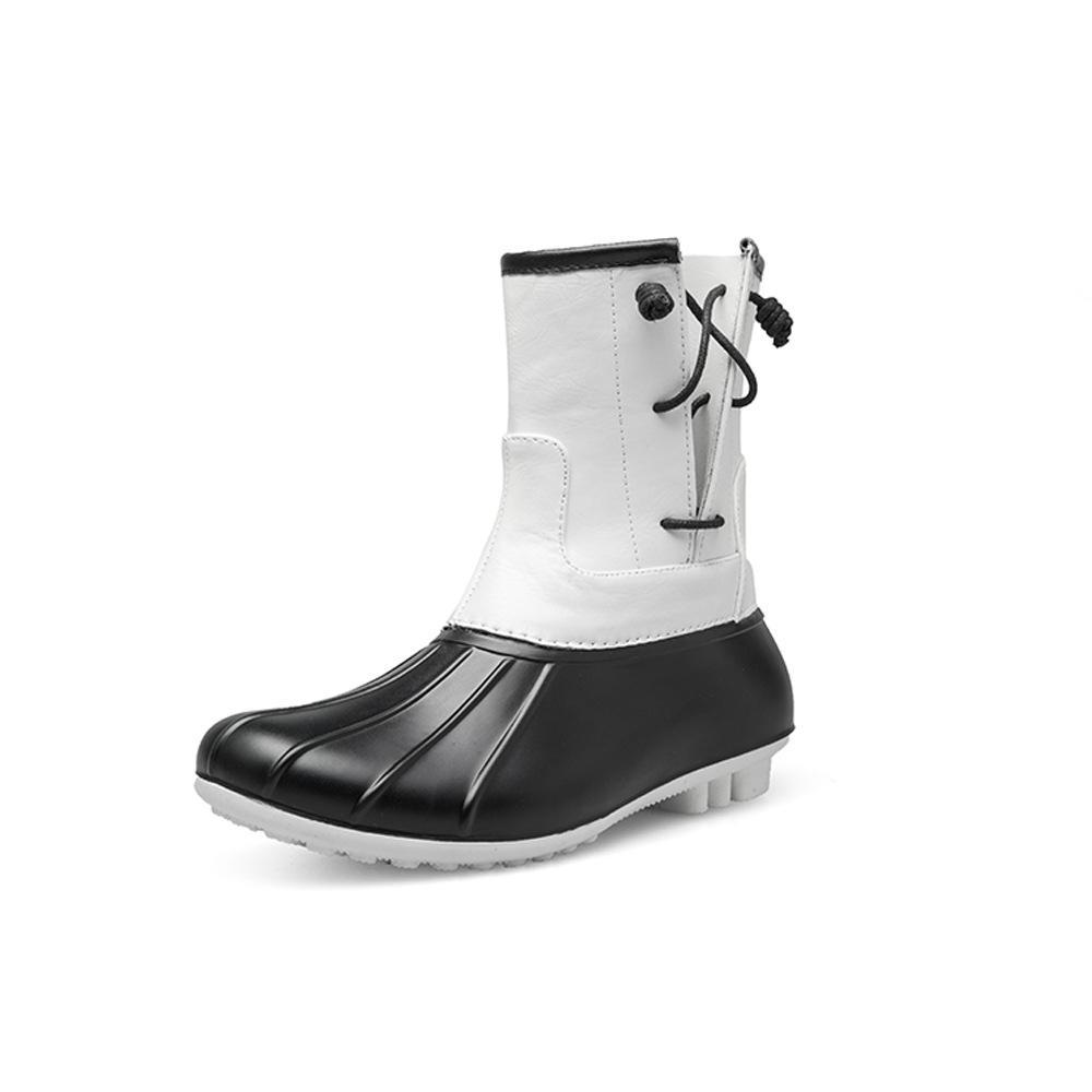 70a1c602cc9 Compre SWYIVY Das Mulheres Sapatos De Borracha Botas De Chuva 2018 Outono  Nova Moda Feminina Botas De Pato Sapatos À Prova D  Água Tubo De Chuva  Curta De ...