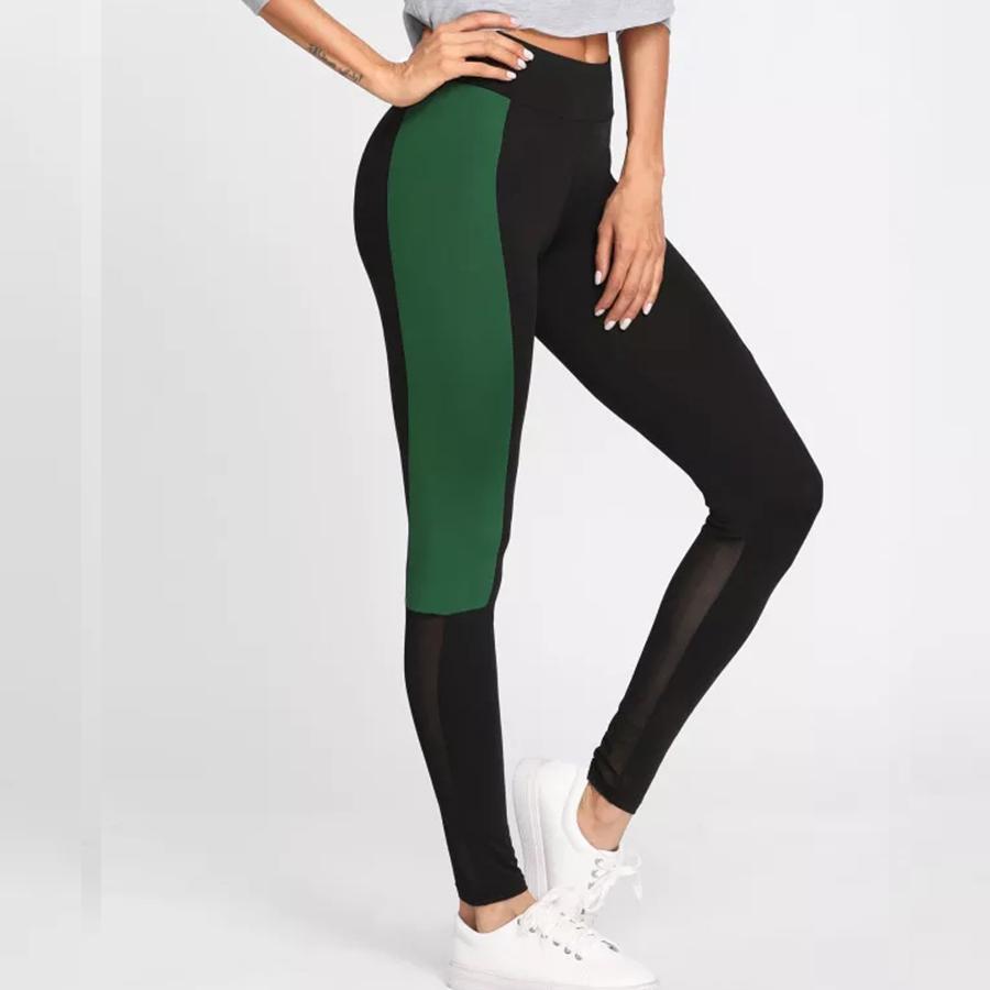 Sexy Frauen Hosen Patchwork Großhandel Elastische Yoga Sporthose dRfx4wYwn