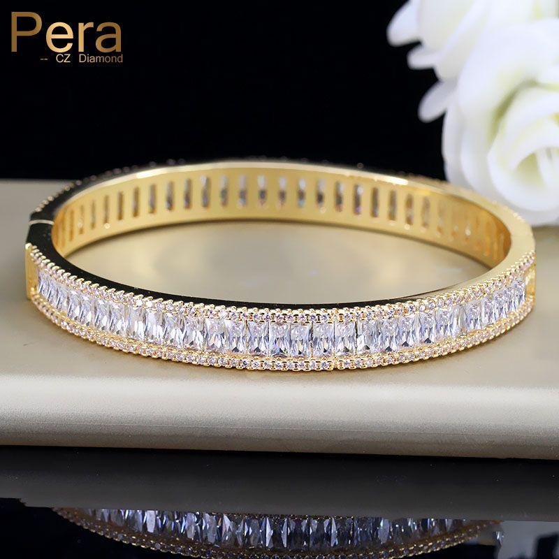 Pera Luxury Indian Dubai Bridal Wedding Gift Big Cubic Zircon