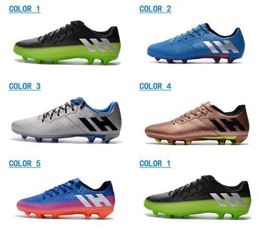 sports shoes 031e9 7ba03 Acheter New Messi 16.3 FG Chaussures De Football Pour Hommes Blanc Neymar  High Heel Chaussures De Football Factory Outlet Crampons De Football  Cristiano ...