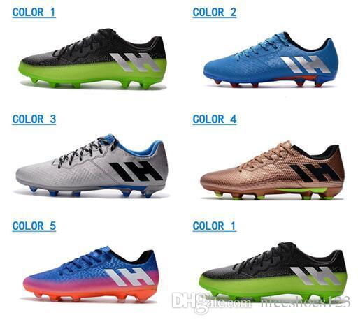 dd063da41 New Messi 16.3 FG Men's Soccer Shoes White Neymar High Heel Football Shoes  Factory Outlet Soccer Cleats Cristiano Ronaldo Soccer Boots