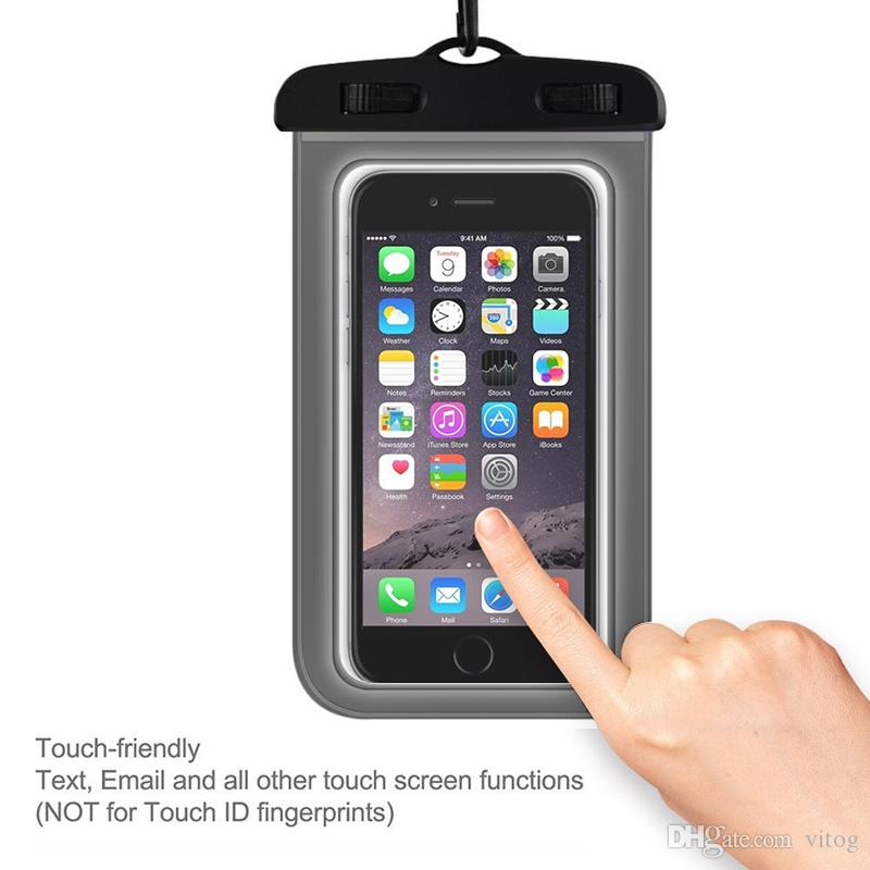 Dry Bag Waterproof case bag PVC Protective universal Phone Bag Pouch With Compass Bags For Diving Swimming For smart phone up to 5.8 inch
