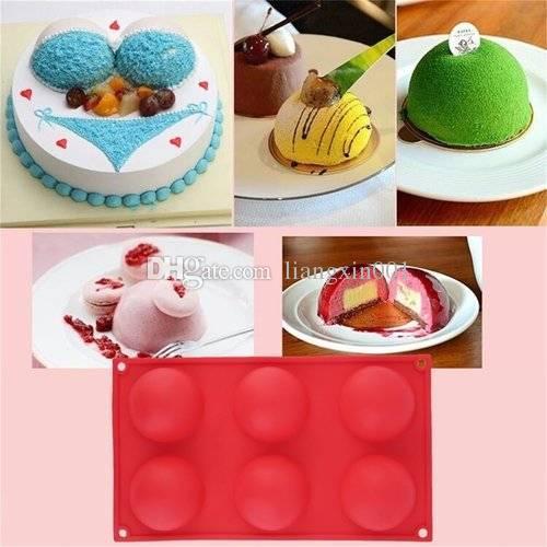 Grosshandel 6 Diy Hohlraum Halbkugel Kreis Silikon Schokolade Cupcake