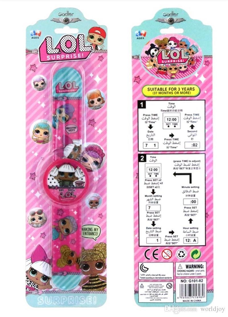 Compre Regalo De Navidad Muñeca De Dibujos Animados Reloj Moda Chica