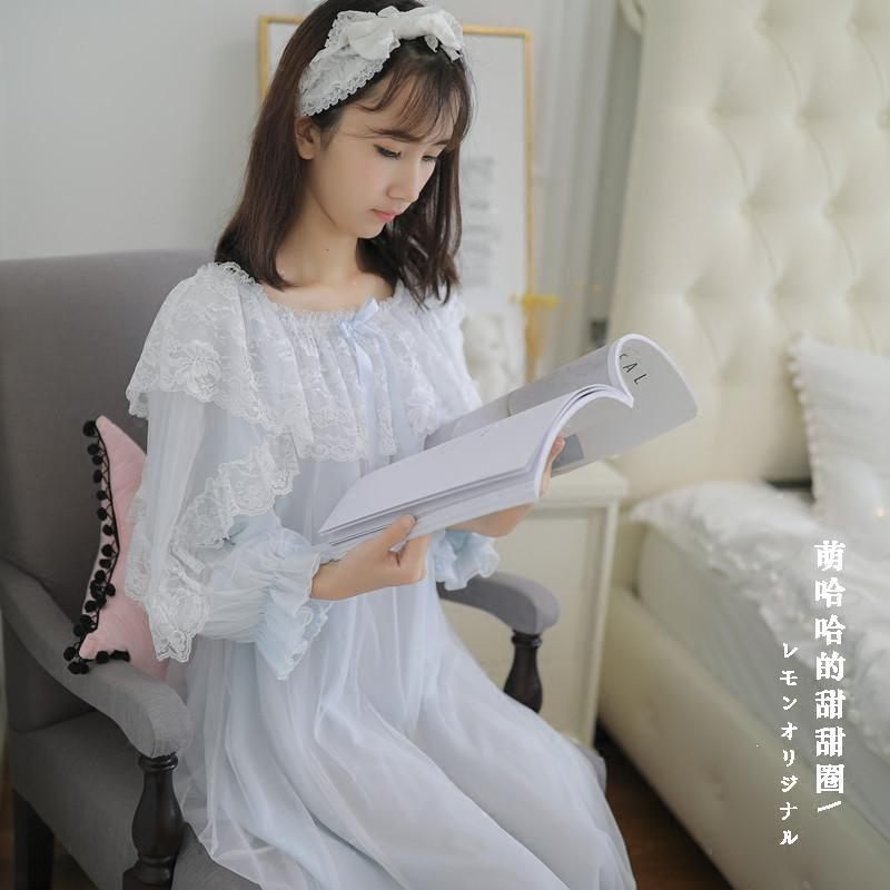 802e1f9a75b French Summer Pregnant Women Sleepwear Princess Breastfeeding Dresses Home Night  Clothes Nursing Lace Sleepping Costumes Pregnant Women Sleepwear Sleepwear  ...