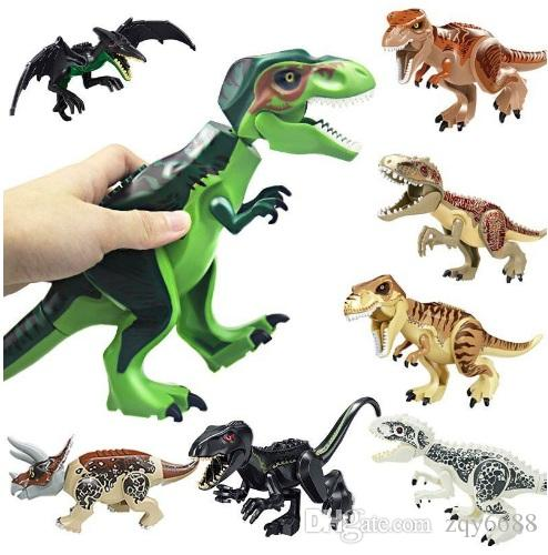 Dinosaur Building Blocks 3D Assembly ABS Plastic Dunosaur Miniature Action Figures OPP Packing Jurassic Park The Dinosaur World For Kids