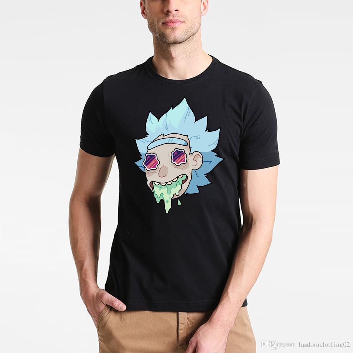 29802e4c3ecb Summer Fashion Rick Morty T Shirt Men Anime T Shirts Peace Among ...