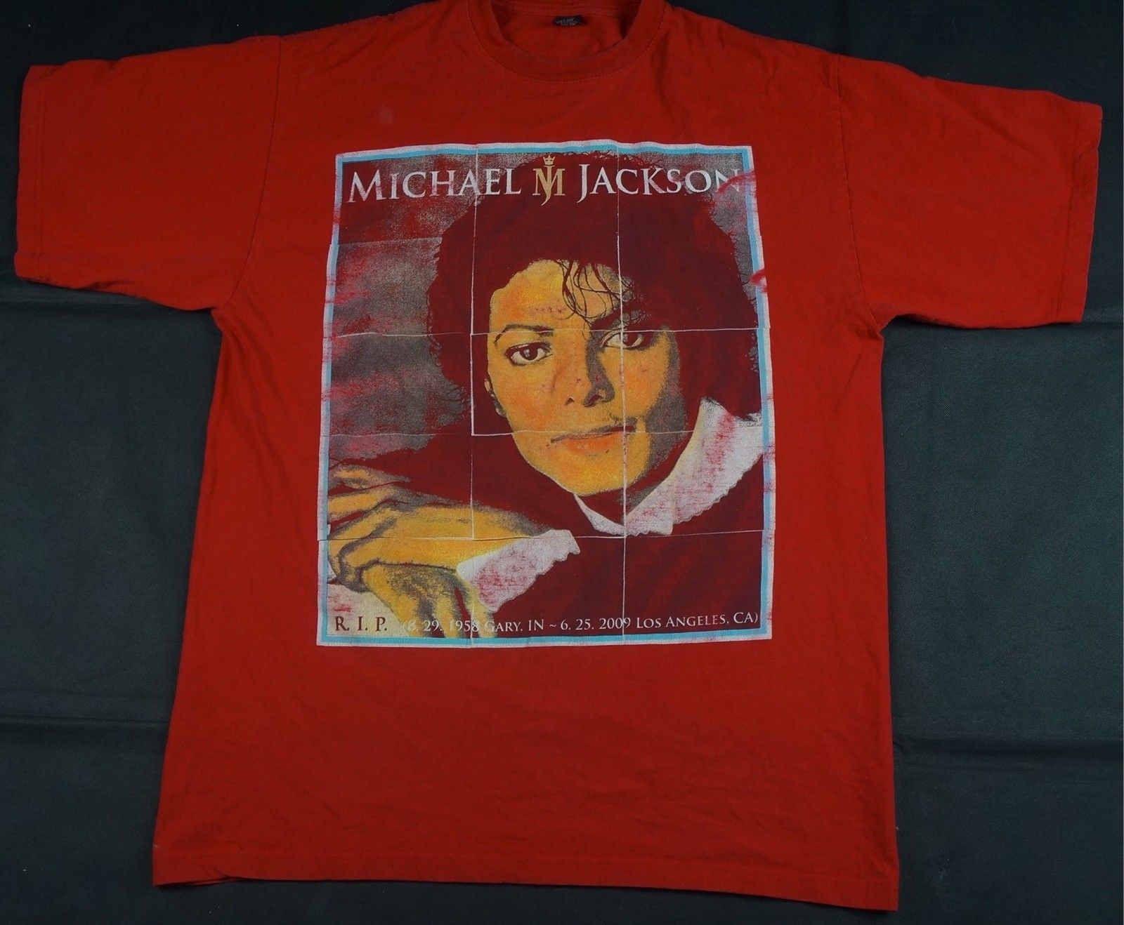 5baa6b68 Rare Vintage NOIZ Michael Jackson Memorial T Shirt RIP MJ King Of Pop Red  SZ 2XL Best Funny Shirts Funny Print Shirts From Tshirtee, $10.68|  DHgate.Com