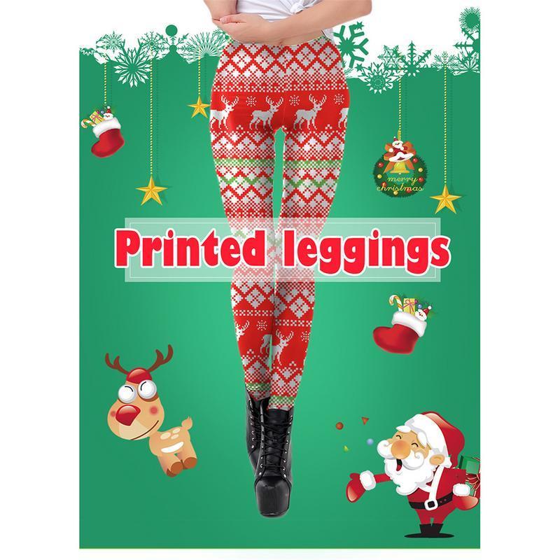5156a7982c1f7 2019 Women Christmas Santa/Snowman/Tree/Elk Print Leggings Yoga Pants  Sports High Waist Xmas Gym Yoga Running Fitness Leggings Pants From  Kangshifuwat, ...