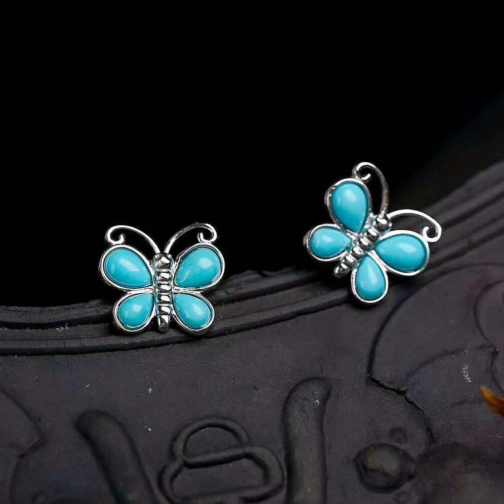 Turchese Argento 925 Orecchini Donna Gioiello Argento Sterling S437 Jewelry & Watches