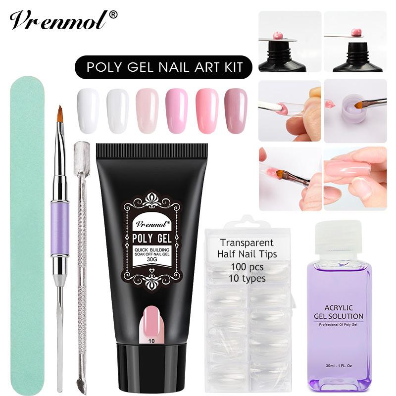 Wholesale 30g Poly Gel Camouflage Extend Builder Nail Design Acrylic