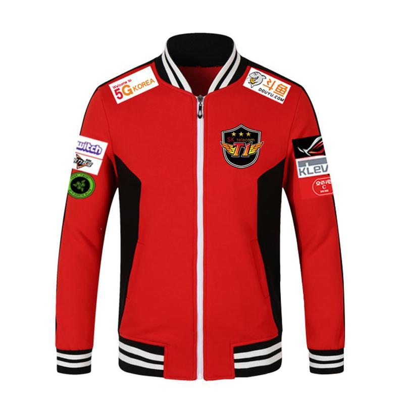 5c759dd29 LOL 2018 LCK SKT T1 S7 Team Jersey SK Telecom T1 Jacket SKTT1 Baseball Coat Men  Faker Jacket Peanut Bang Coats S1015 Coats For Man Jacket Top From Rui03,  ...