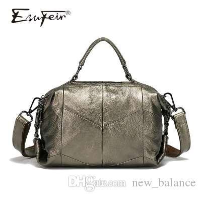 76bcac7e8abe ESUFEIR Brand Genuine Leather Women Handbags Fashion Casual Women ...