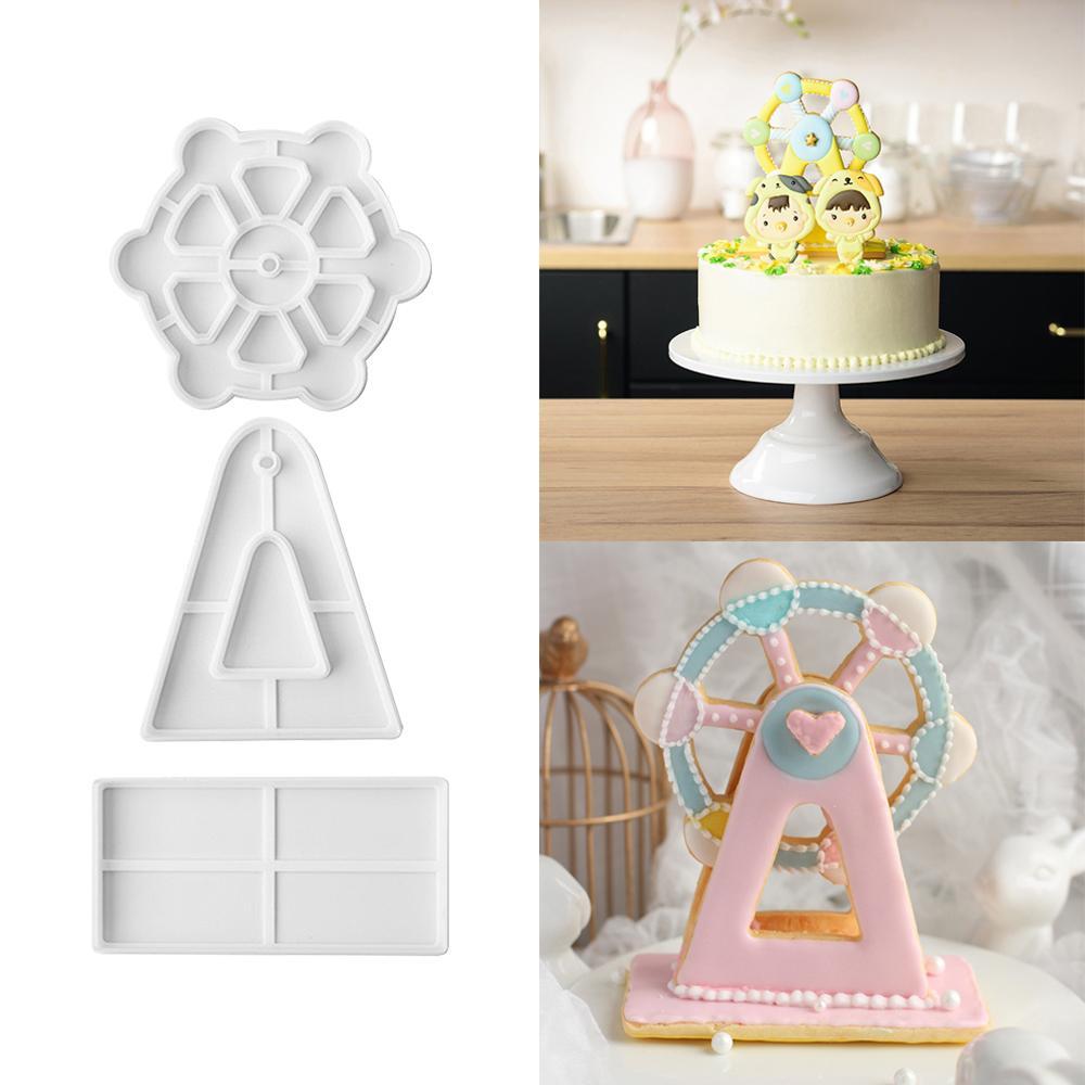 2018 3d Birthday Happy Ferris Wheel Silicone Mold Cake Decor Cup