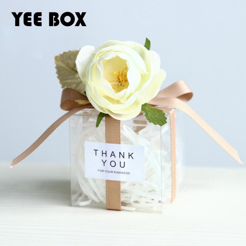 20pcs/lot wedding/ festive party favors/wedding 6*6*6/10cm candy box need to DIY candy boxes wedding gifts for guests