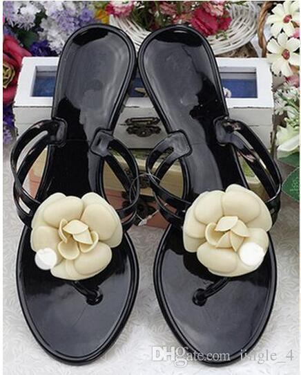 a964c7f41e Compre Hot Sale Da Moda Camélia Chinelos De Verão Chinelos Sapatos Pinch  Geléia Plana Sapatos Femininos Sandálias Mulheres Sapatos De Verão 36 40 De  ...