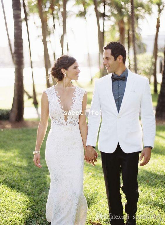 Berta 2019 V Neck Wedding Dresses Full Lace Mermaid Zipper Back Garden Outdoor Style Bridal Gown Custom Made