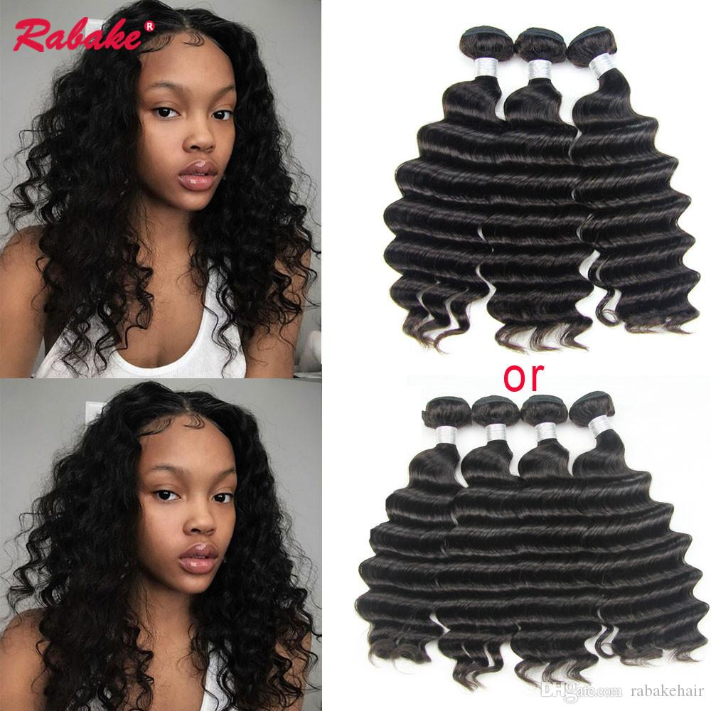 Brazilian Virgin Remy Loose Deep Wave Human Hair Weave Bundles
