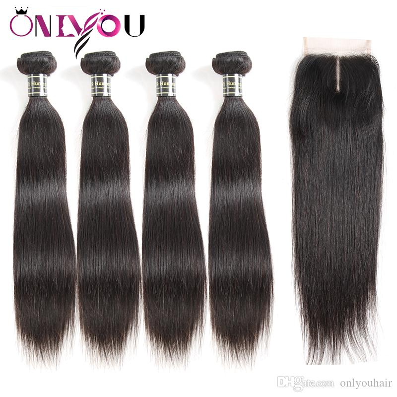 New Arrival Brazilian Tissage Body Wave Virgin Human Hair Weaves Lace Closure Frontal Bundles Deep Wave Kinky Curly 4 Bundles with Closure