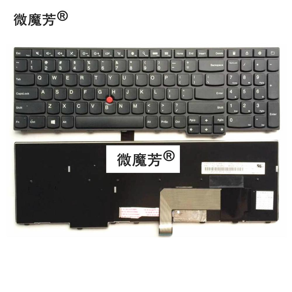 US Black New English Replace laptop keyboard For Lenovo For ThinkPad E531  L540 W540 T540 T540P E540 W550 W541