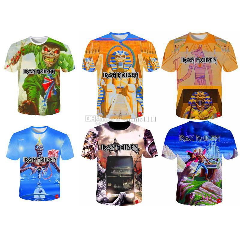 Wholesale Iron Maiden T Shirt Hot Men Women T Shirt Rock Band 3d T