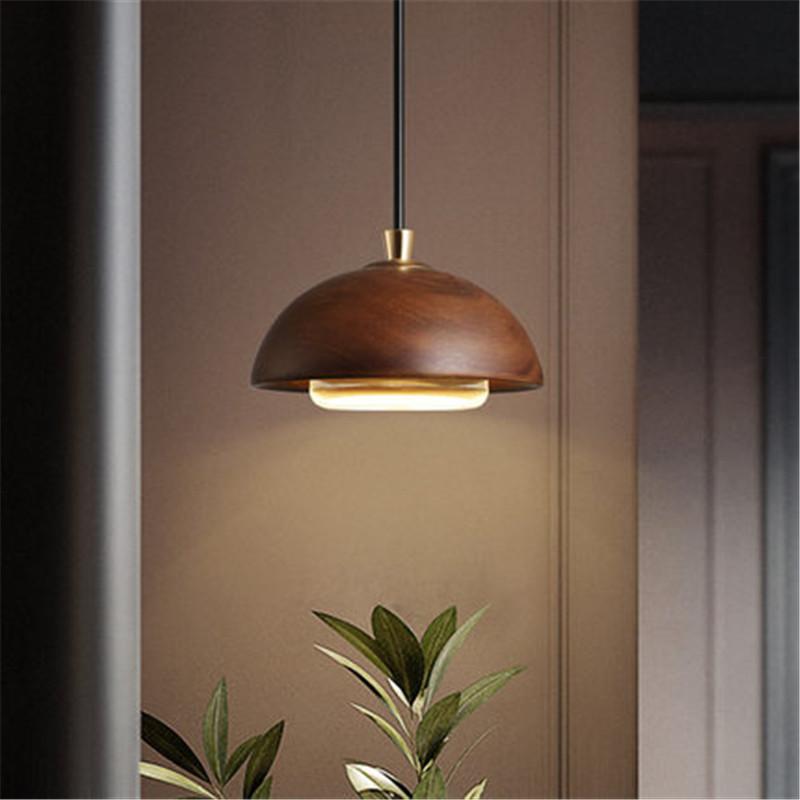 E27 American Loft Wood Art Retro Droplight Industrial Vintage Pendant Light Fixtures For Living Dining Room Bar Hanging Lamp Discount Lighting
