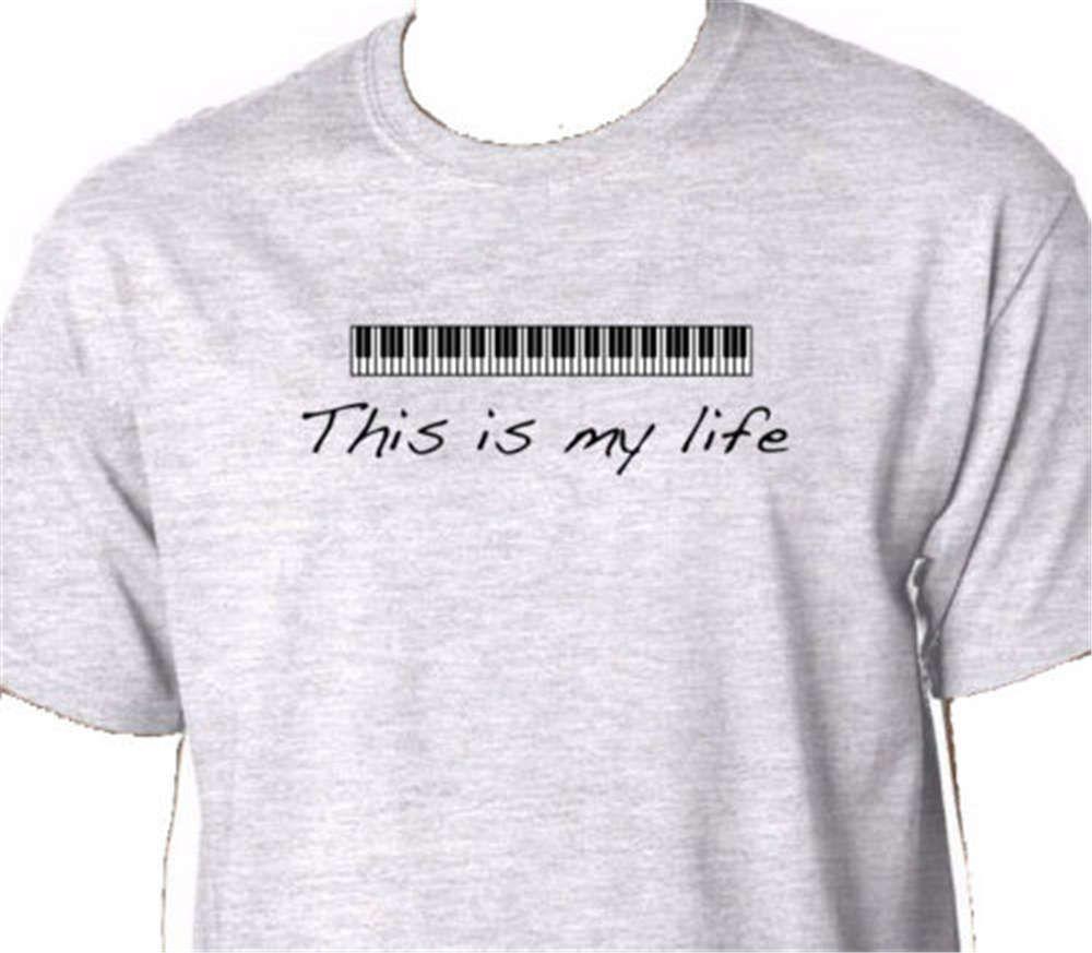 Anime Print Tee This Is My Life Piano T Shirt Keyboard Music