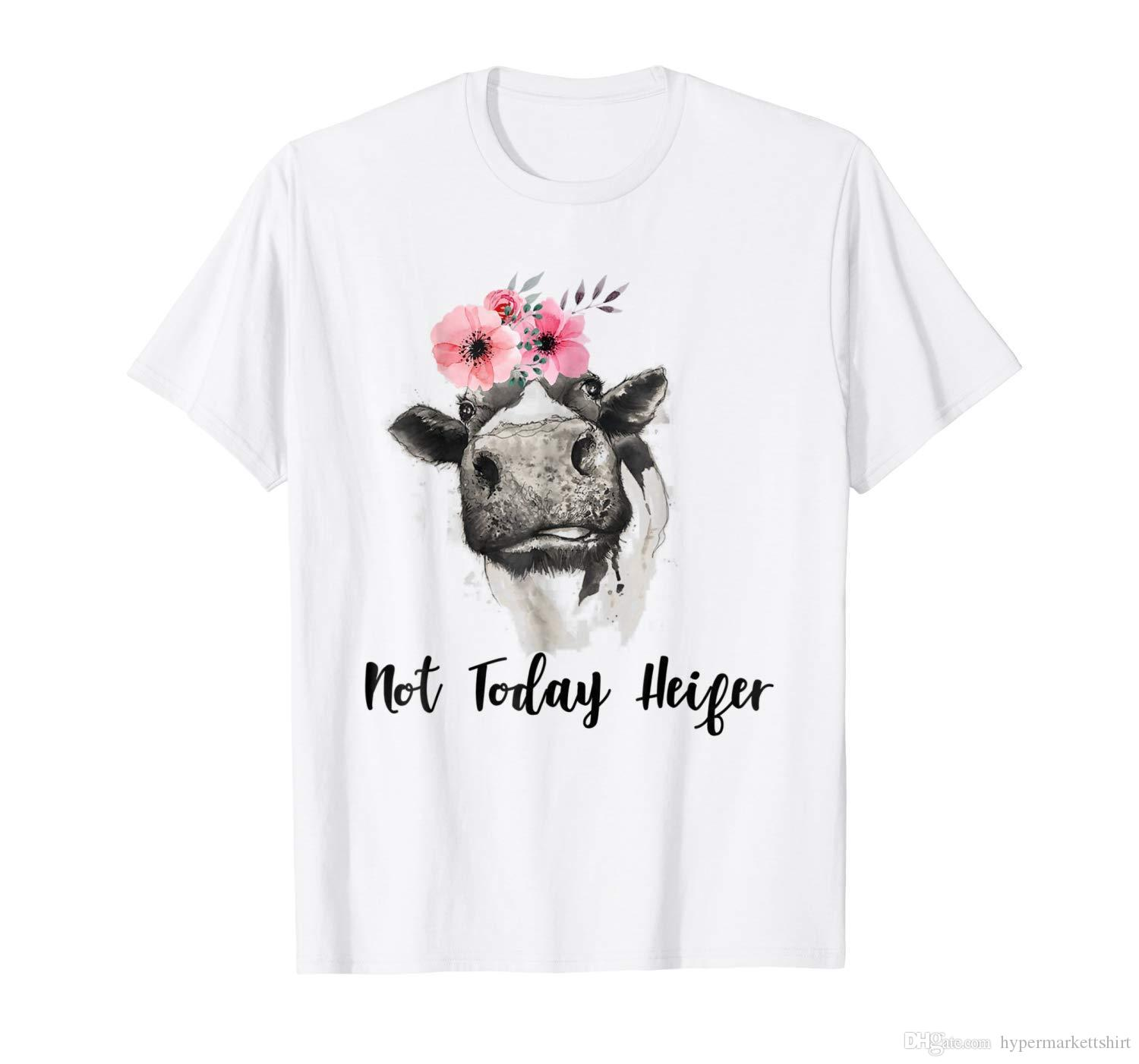 fec56a293 Not Today Heifer Cute Funny White Unisex T Shirt S 3XL Designs For T Shirts  Awesome T Shirt From Hypermarkettshirt, $11.05| DHgate.Com