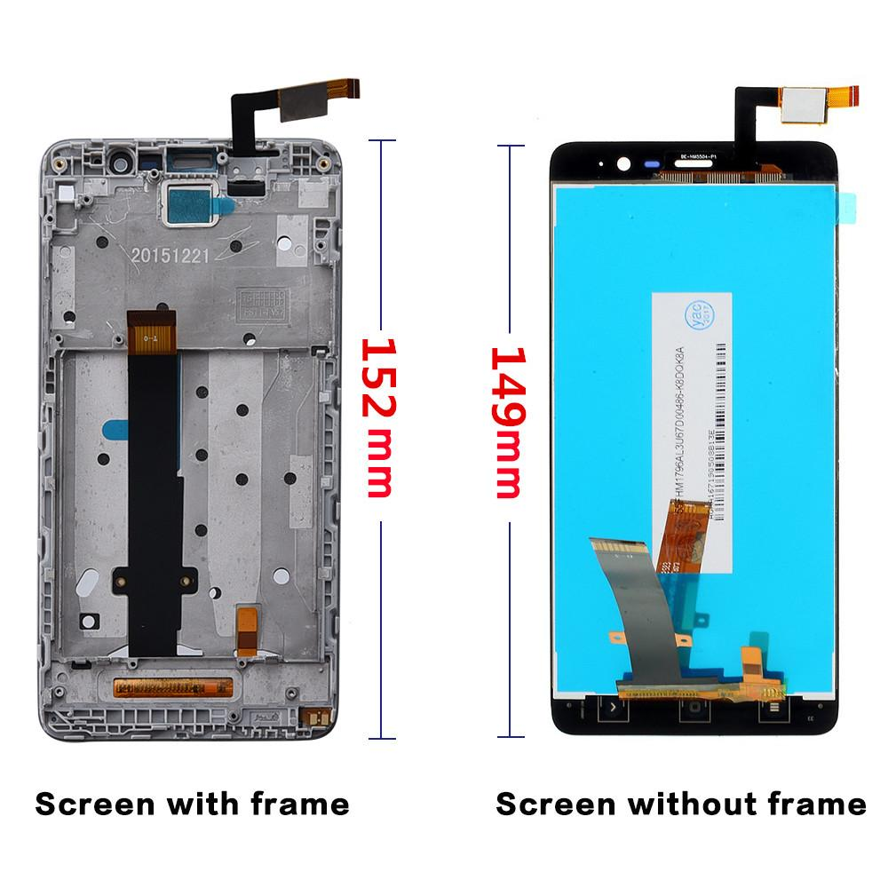 152mm 5 5 LCD For XIAOMI Redmi Note 3 Pro Display Touch Screen with Frame  Note3 Pro SE Snapdragon 650 Hexa-core Special Edition