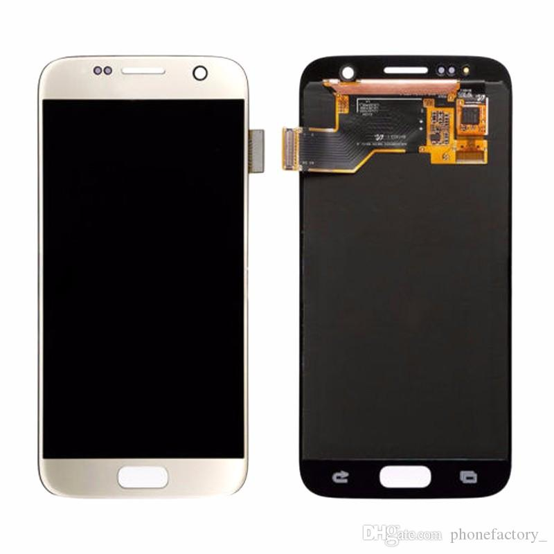 Original LCD For Samsung Galaxy S7 Touch Screen Digitizer Display Assemly LCD Screen + Frame Replacement For G930A G930F G930P + Repair Tool