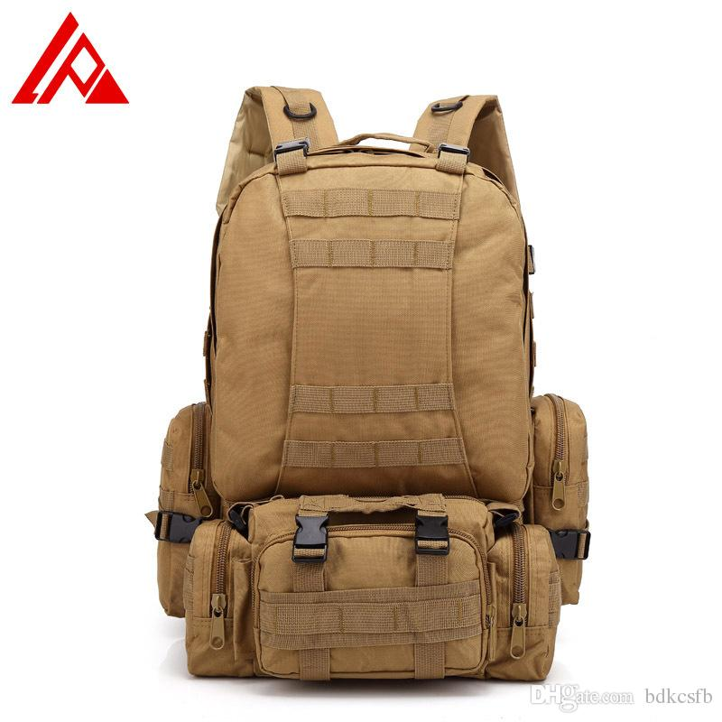 2019 Outdoor Tactical Backpack 50L Military Bag Army Trekking Sport Travel  Rucksack Camping Hiking Trekking Camouflage Bag From Bdkcsfb 88bc4a5d209b5