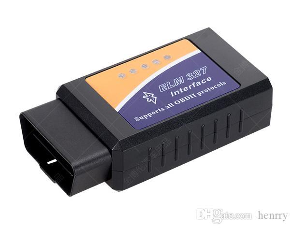 10 stks ELM 327 Bluetooth ELM327 BT OBD2 ELM 327 CAN-BUS kan werken op de diagnostische kabel van de mobiele en pc-auto