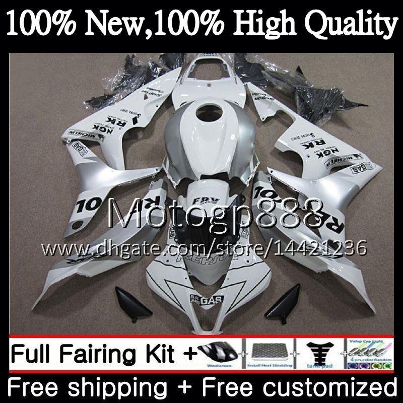 Injection Body+Tank For HONDA Repsol white CBR 600RR 07 CBR 600 RR F5 07 08 60PG20 CBR600RR CBR600F5 CBR600 RR 2007 2008 Fairing Bodywork