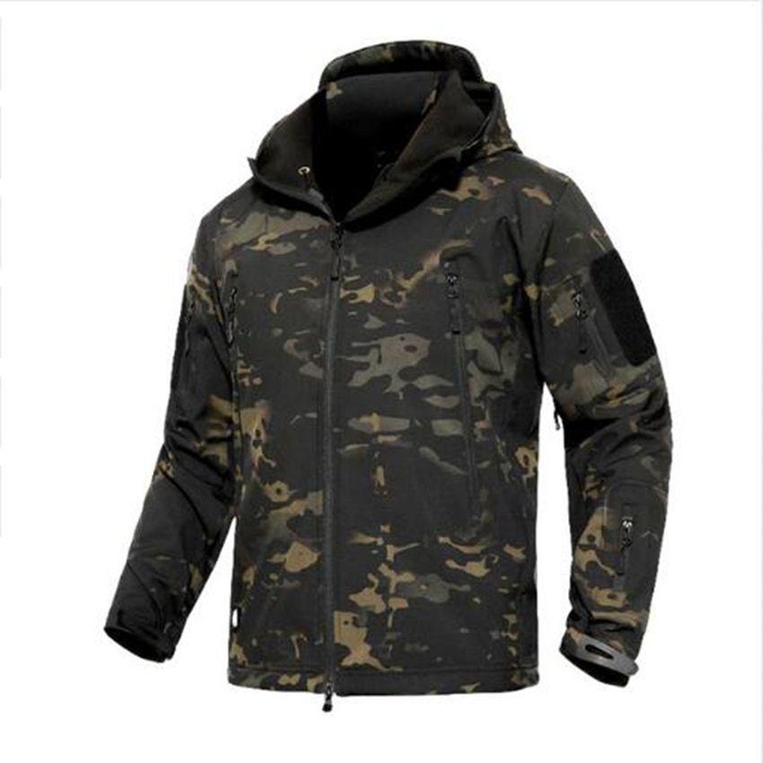 2018 New Men Tactical Softshell Jackets Outdoor Waterproof Sports ... 2ee111db2